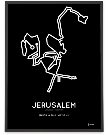 2016 Jerusalem marathon Poster