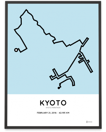 2016 Kyoto Marathon poster