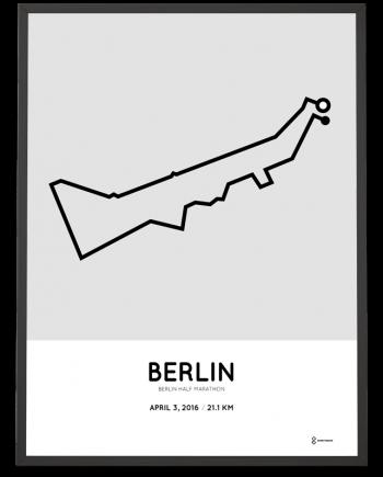 2016 Berlin half marathon print