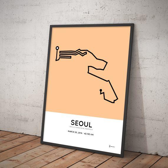 2016 Seoul Marahton poster
