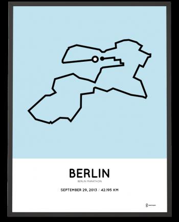 2013 Berlin marathon poster