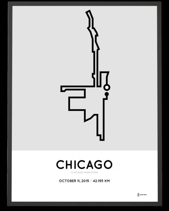 2015 Chicago marathon poster