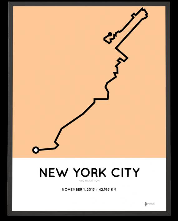 2015 NYC Marathon print