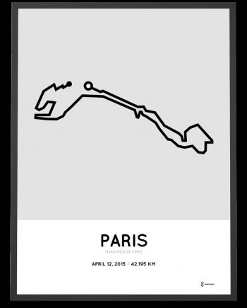 2015 Paris marathon print