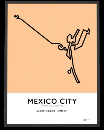 2015 Mexico City Marathon poster