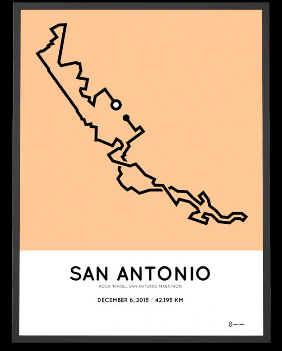 2015 San Antonio Marathon print