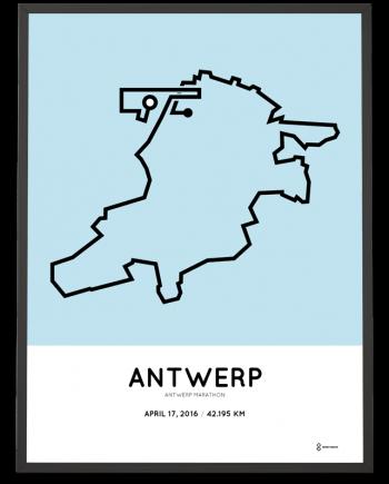 2016 Antwerp marathon print