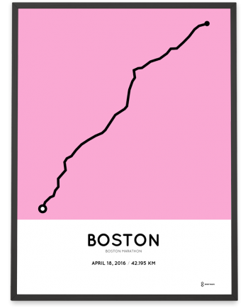 2016 Boston marathon poster