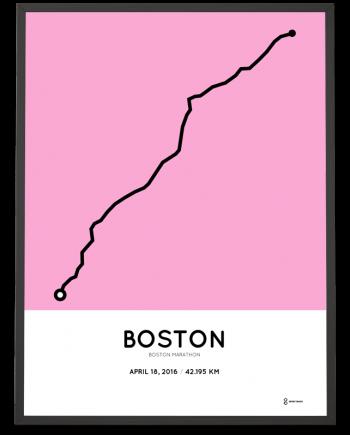 2016 Boston marathon poster