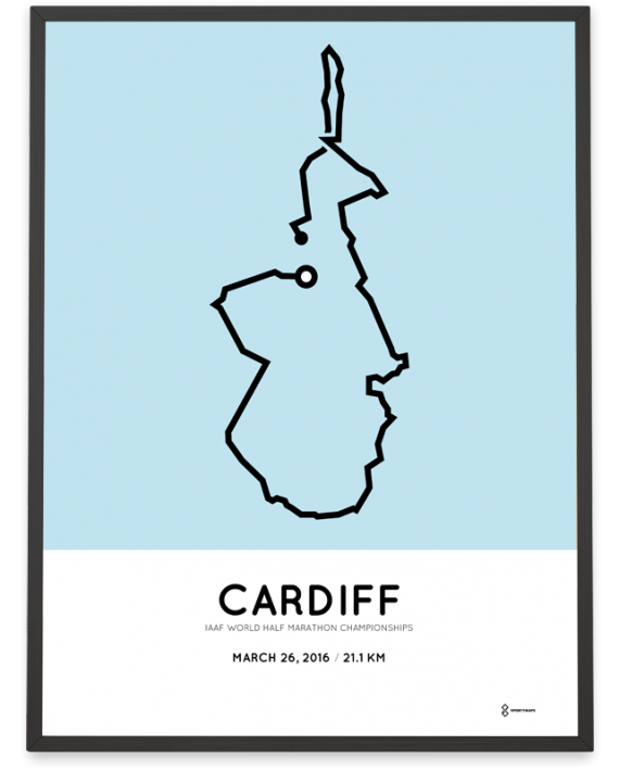 2016 Cardiff half marathon poster