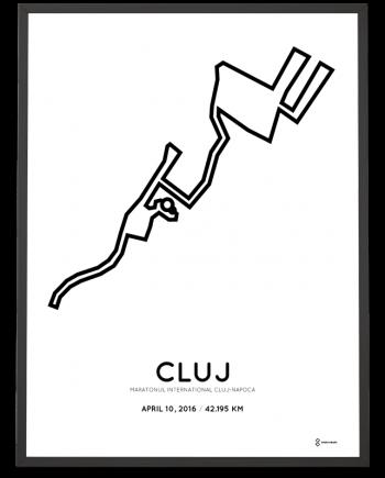 2016 Cluj marathon course print