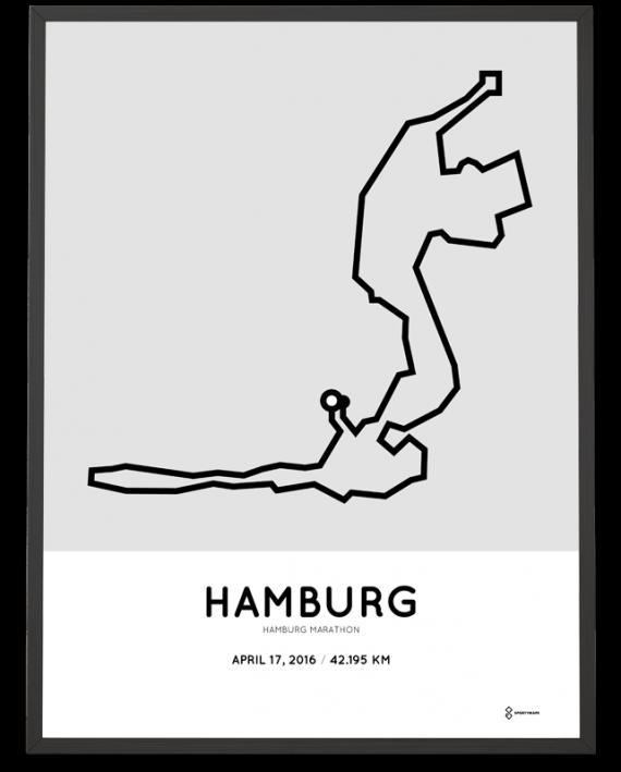 2016 Hamburg marathon poster