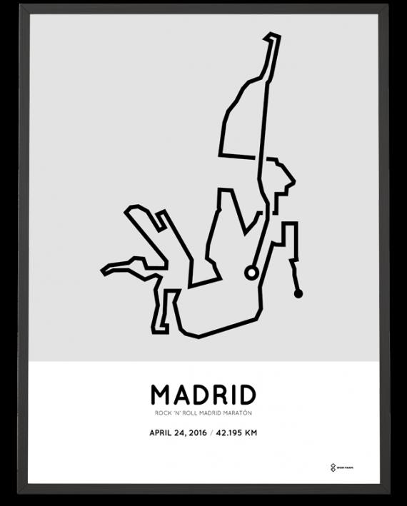 2016 Madrid marathon poster