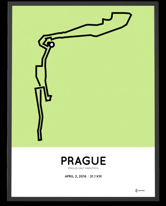 2016 Prague half marathon poster