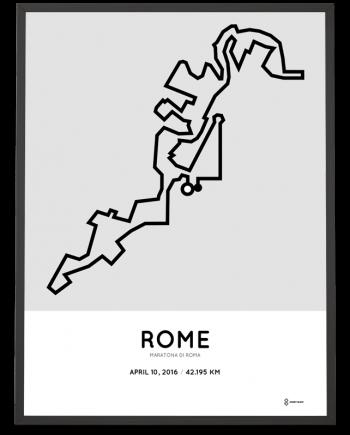 2016 Rome marathon poster