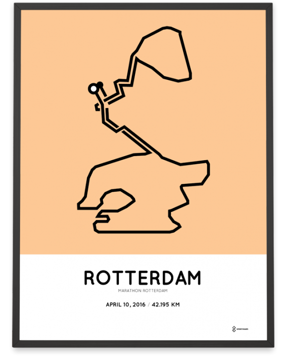2016 Marathon Rotterdam print