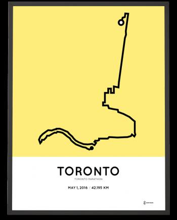 2016 Toronto marathon course poster