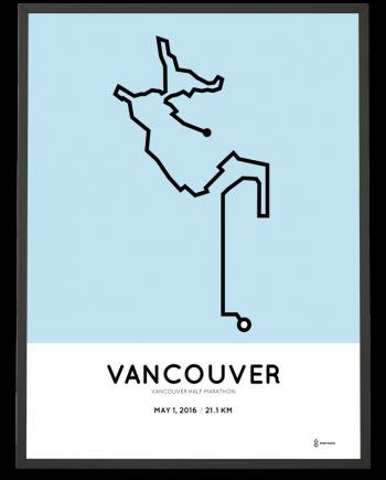 2016 Vancouver half marathon poster