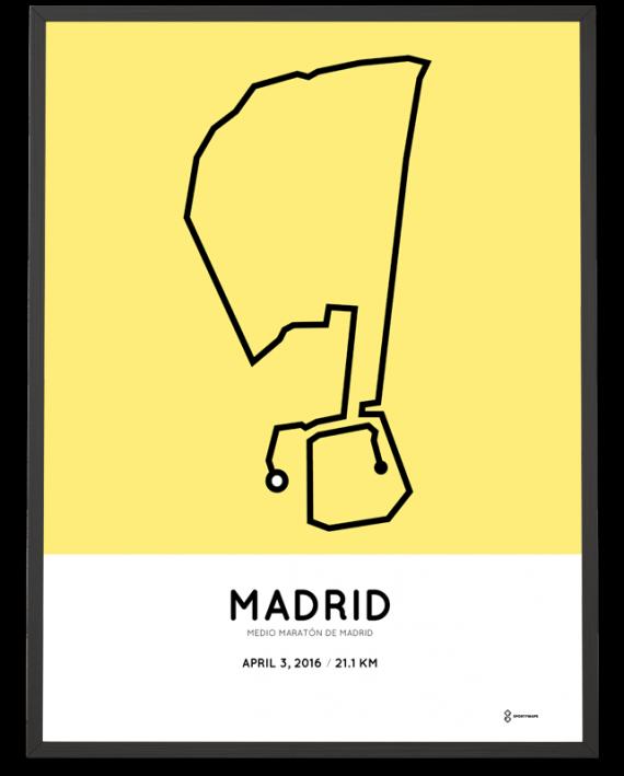 2016 madrid half marathon print