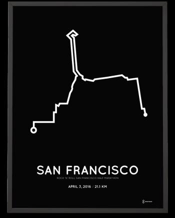 2016 san francisco half marathon print