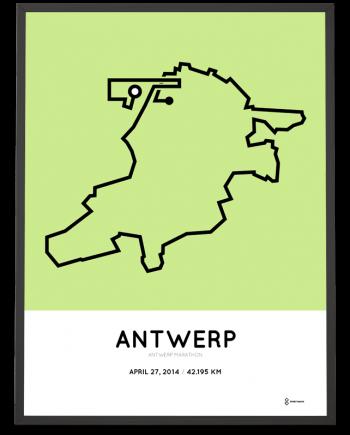 2014 Antwerp marathon print