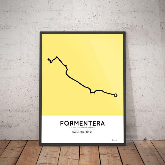 2016 Formentera half marathon print