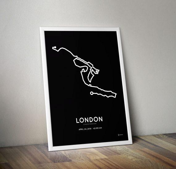 Londen marathon 2016 course