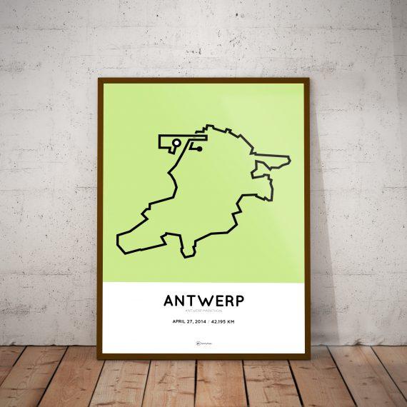 Antwerp marathon poster 2014