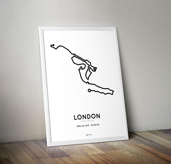 2015 London Marathon poster