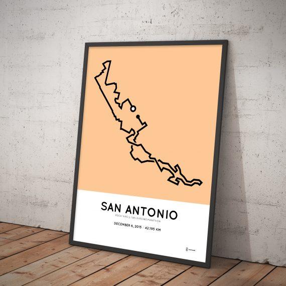 2016 San Antonio marathon poster