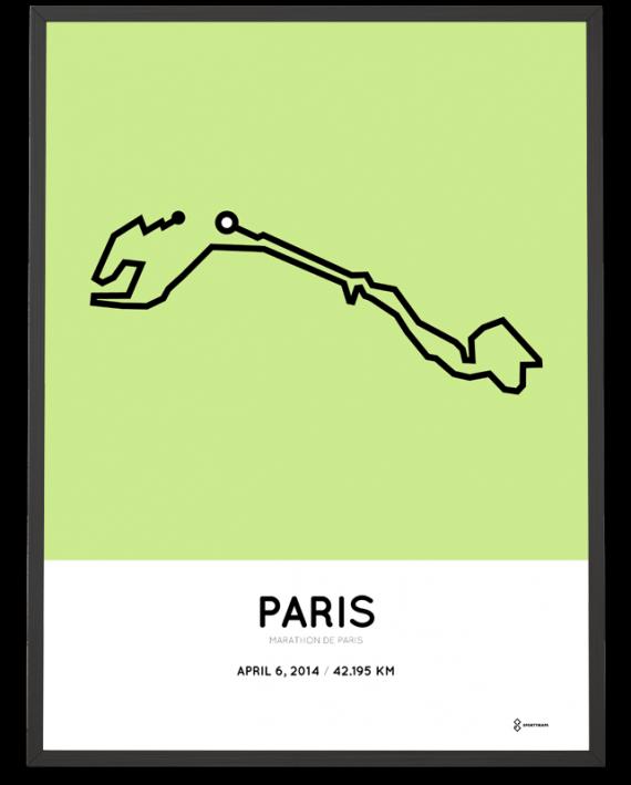 2014 Paris marathon print