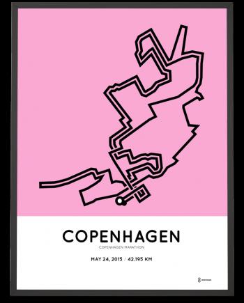 2015 Copenhagen marathon course poster