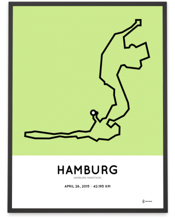 2015 Hamburg marathon poster