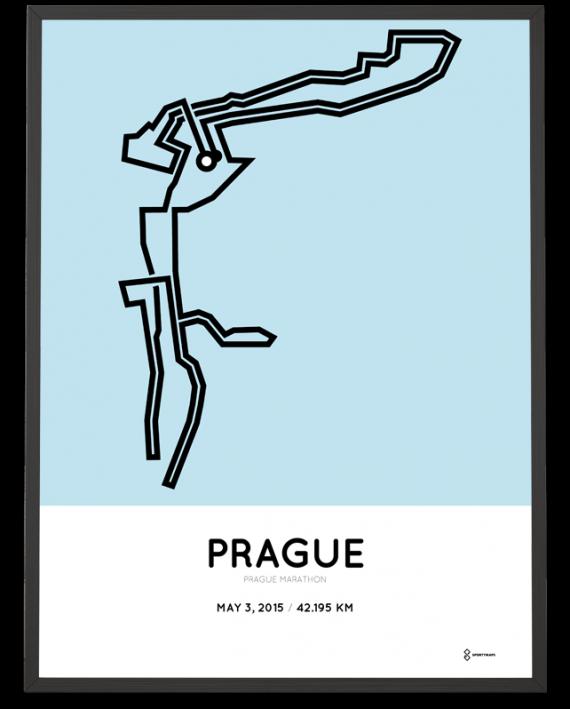 2015 Prague marathon print