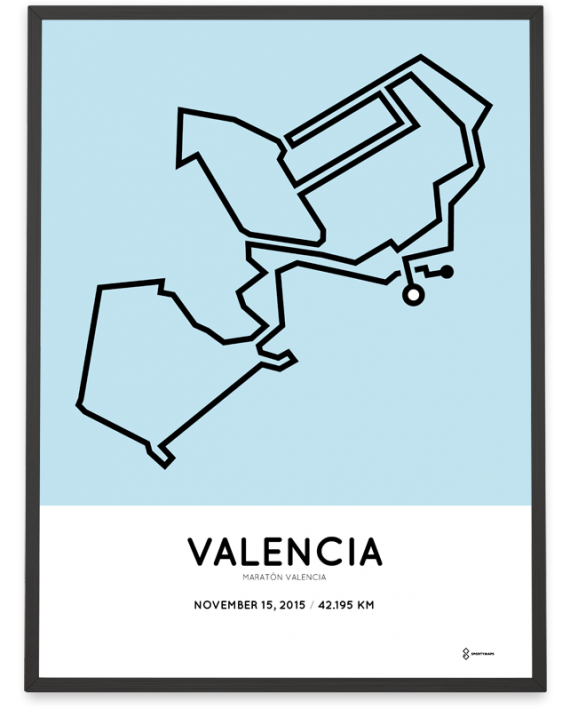 2015 Valencia marathon course poster