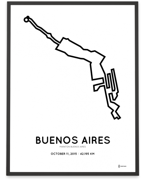 2015 buenos aires marathon poster