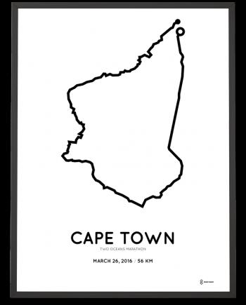 2016 2 Oceans marathon course poster