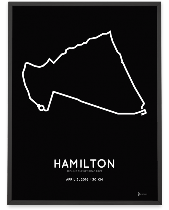 2016 Around the Bay road race course print