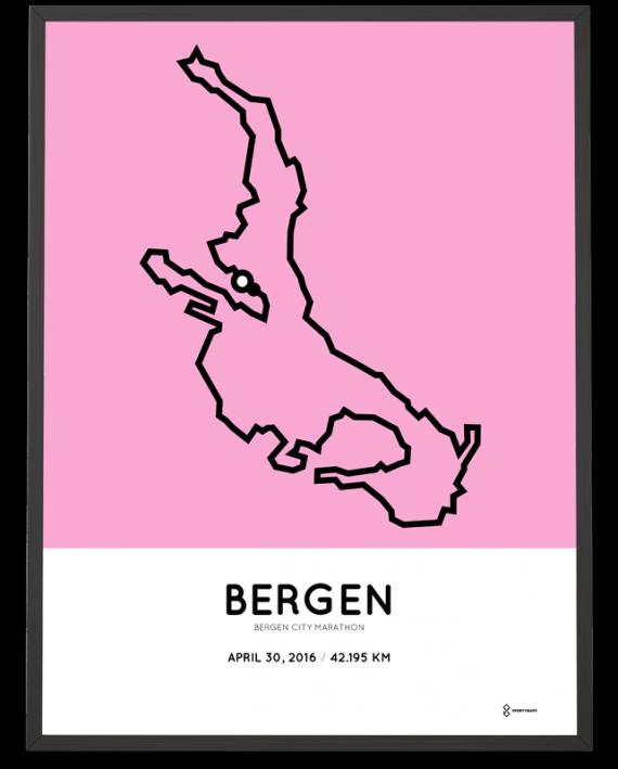 2016 Bergen City marathon minimalistic poster
