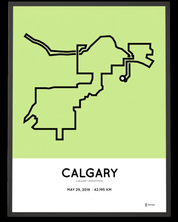 2016 Calgary marathon poster