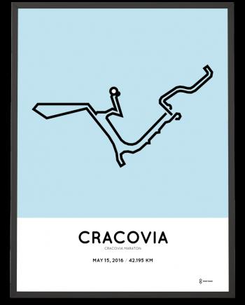 2016 Cracovia marathon poster