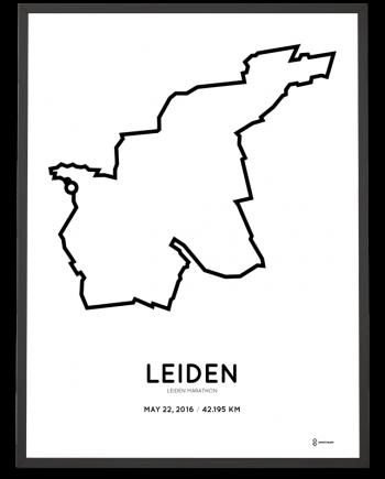 2016 Leiden marathon route poster