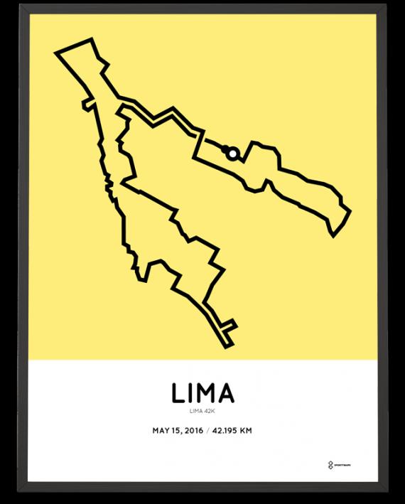 2016 Lima marathon course poster