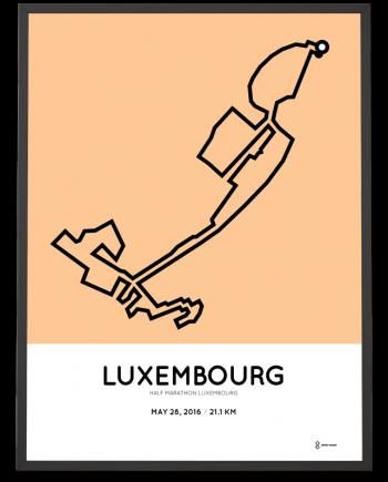 2016 Luxembourg half marathon print