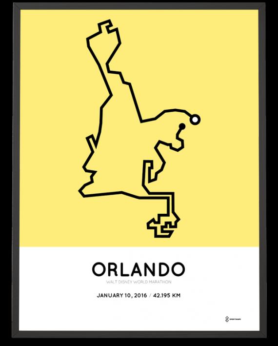 2016 Walt Disney World marathon course