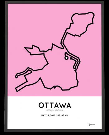 2016 Ottawa marathon poster
