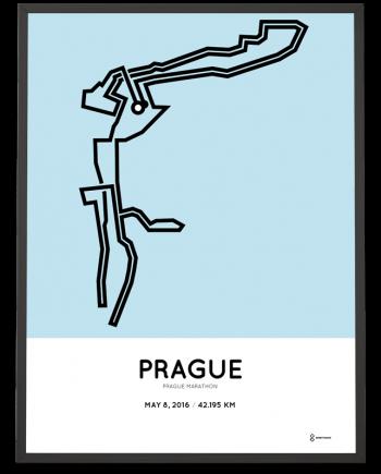 2016 Prague marathon course poster