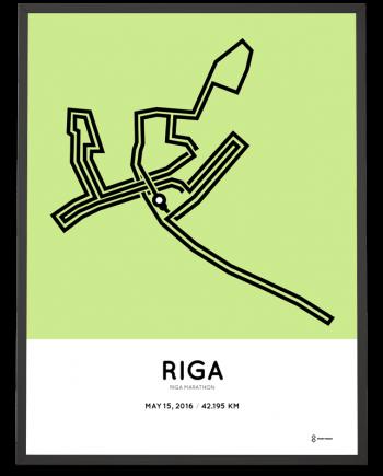 2016 Riga marathon course map