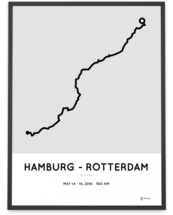 2016 Roparun Hamburg - Rotterdam poster