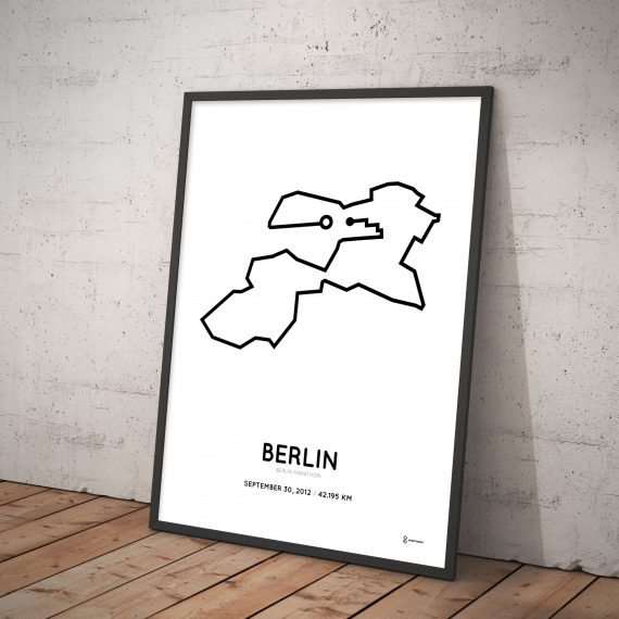 2012 Berlin marathon course poster